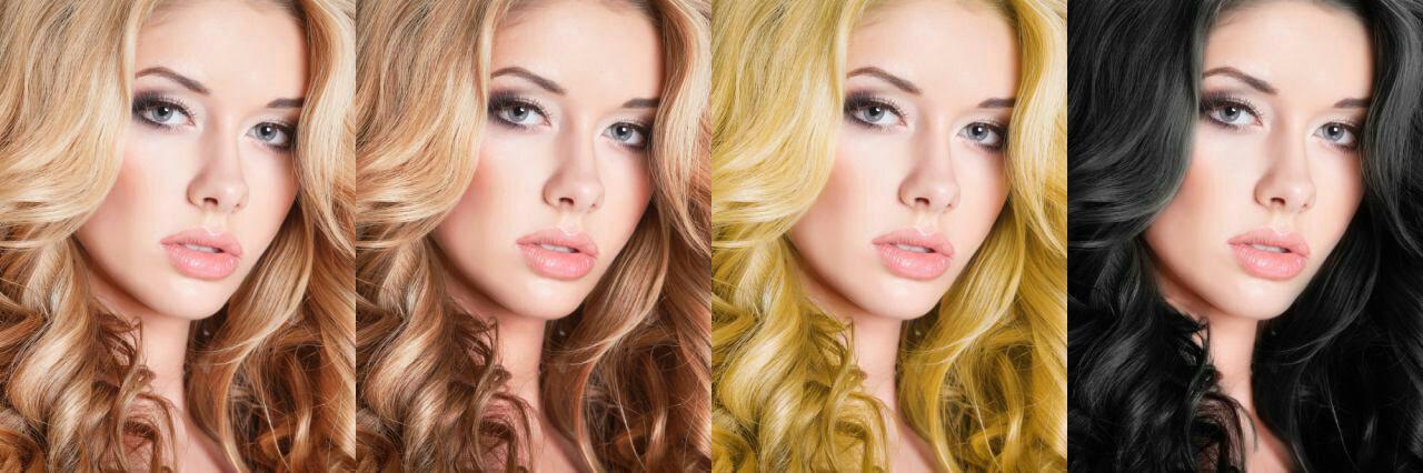 آموزش تغییر رنگ مو در فتوشاپ CC2015