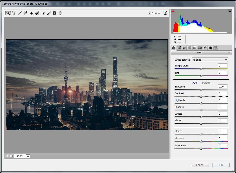 HDR کردن تک عکس توسط Camera Raw در فتوشاپ