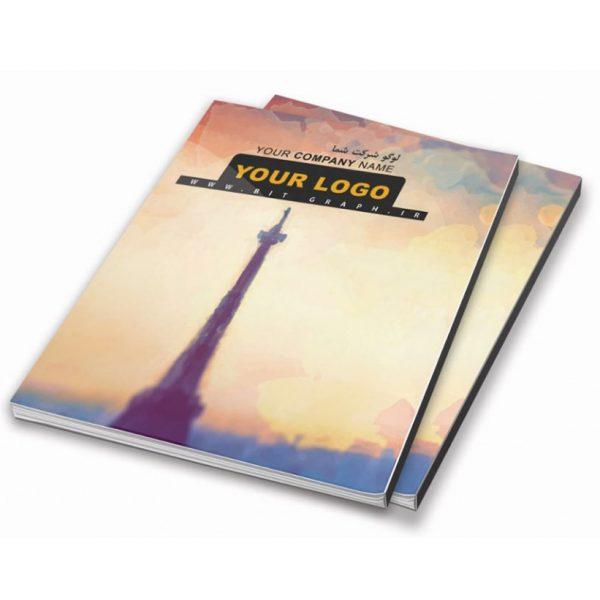 فایل آماده جلد دفتر و کلاسور برج ایفل