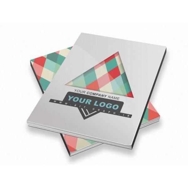 فایل PSD جلد دفتر و بخصوص کلاسور طرح رنگارنگ