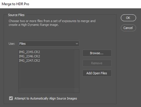ایجاد عکس HDR از عکس هایی با چند اکسپوژر مختلف (Bracketing)