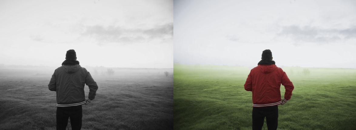 رنگی کردن عکس سیاه سفید در فتوشاپ