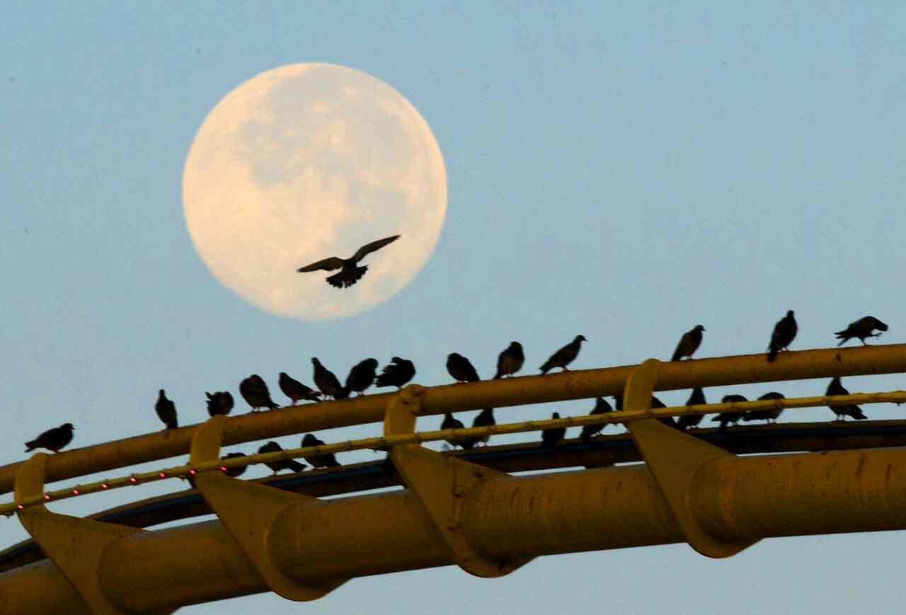 ابر ماه سانتا مونیکا - کالیفرنیا