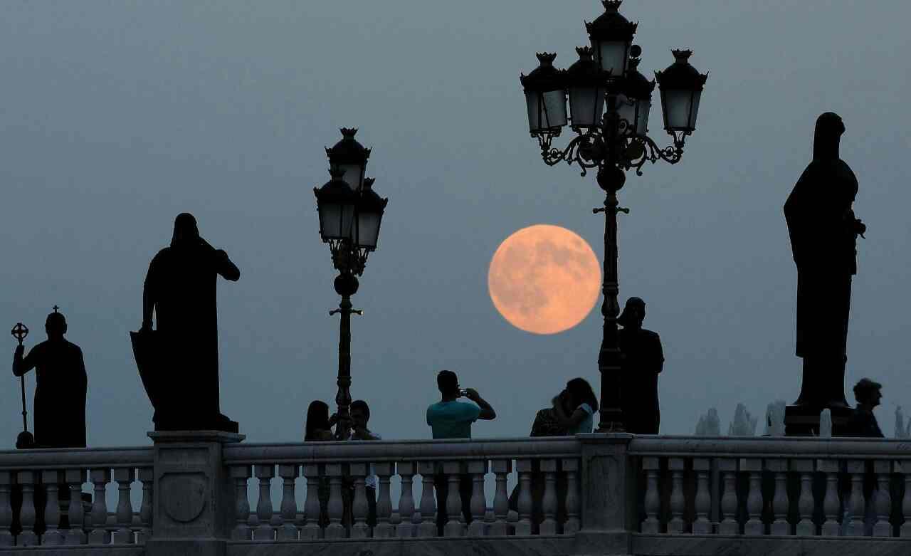 ابر ماه اسکوپیه - مقدونیه