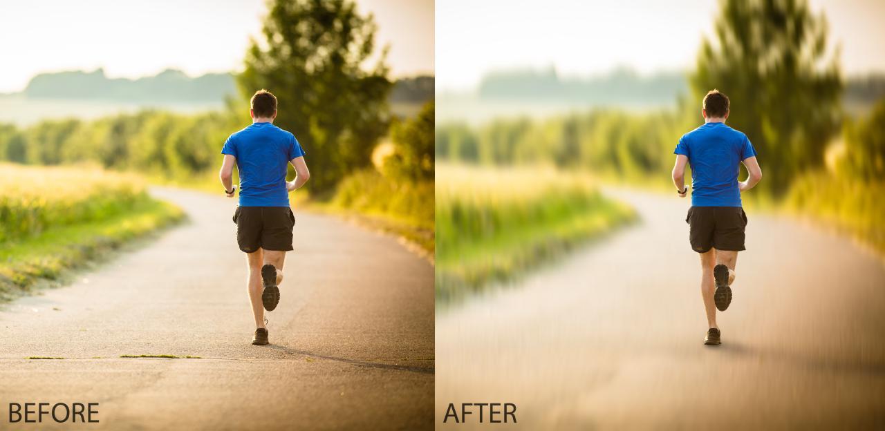 اضافه کردن motion blur به عکس های ورزشی با فتوشاپ