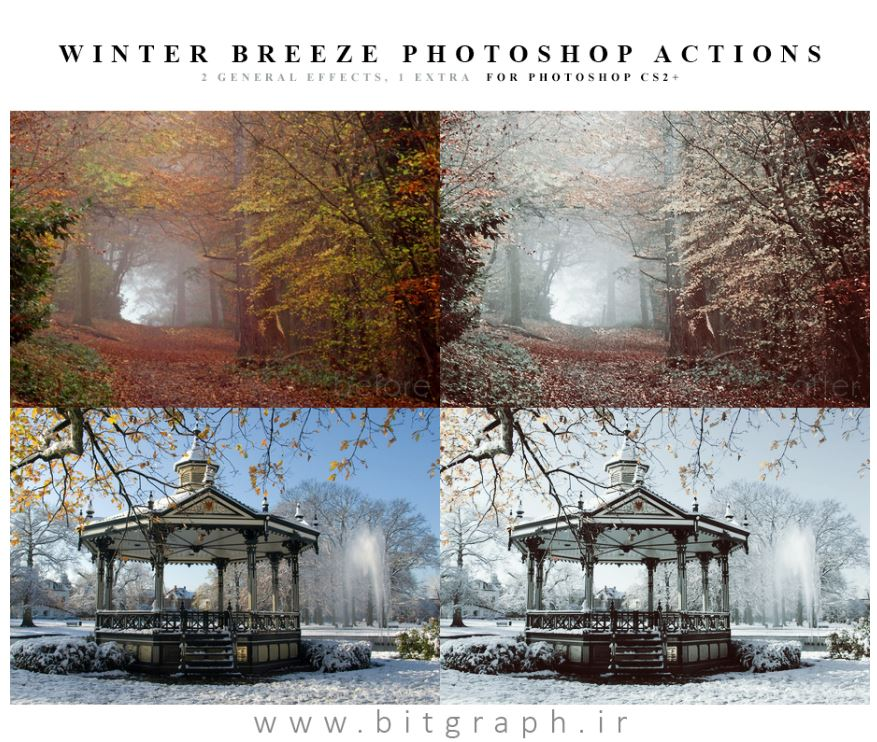 دانلود اکشن زمستانی کردن عکس برای فتوشاپ