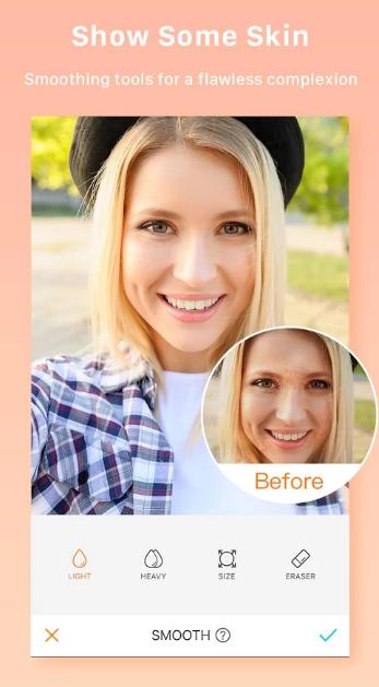 نرم افزار روتوش صورت AirBrush Easy Photo Editor برای گوشی های همراه