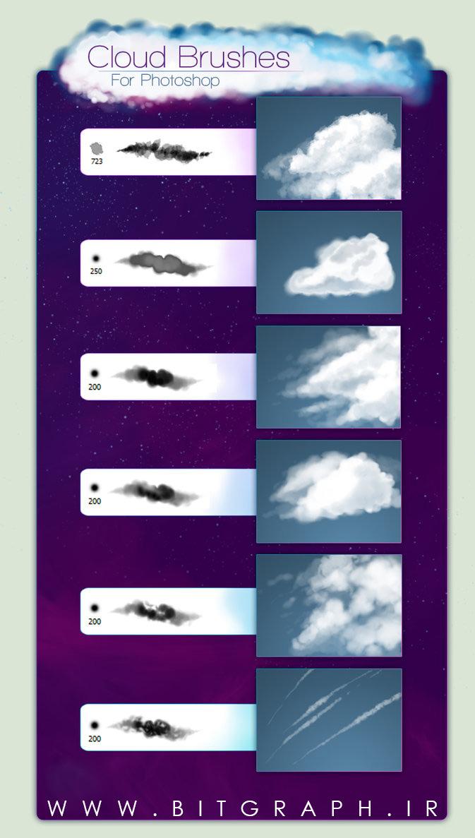 دانلود براش های ابر برای فتوشاپ