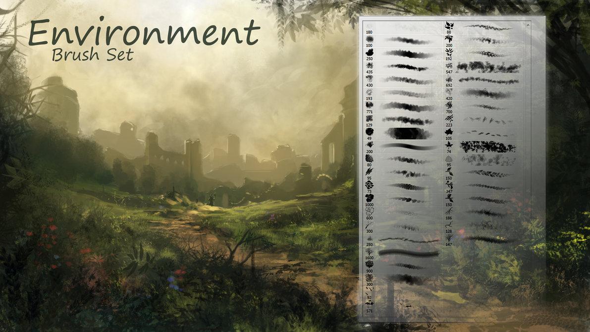 ست براش های جمع آوری شده مخصوص نقاشی و طراحی طبیعت