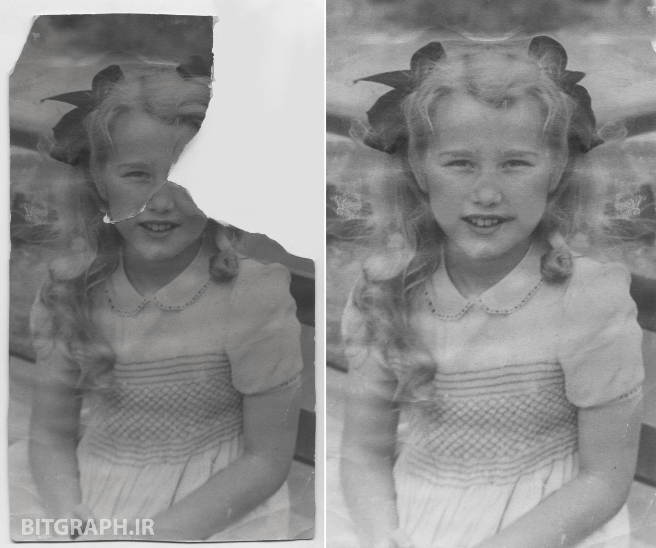 بازسازی و ترمیم عکس های قدیمی در فتوشاپ