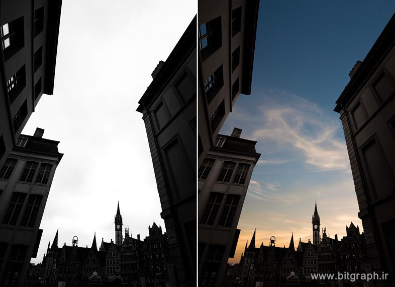 عوض کردن آسمان یک عکس