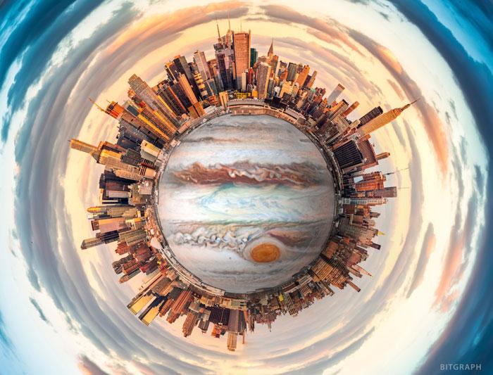 ساخت پانوراما 360 درجه در فتوشاپ (Polar Panorama)