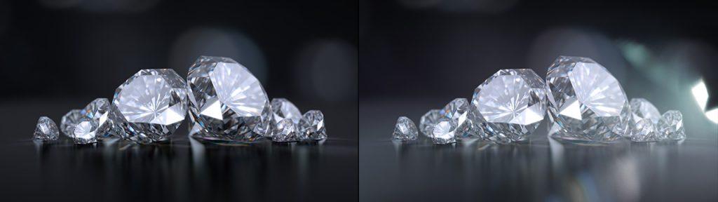 قبل و بعد از استفاده افکت نشت نوری (Light Leaks)