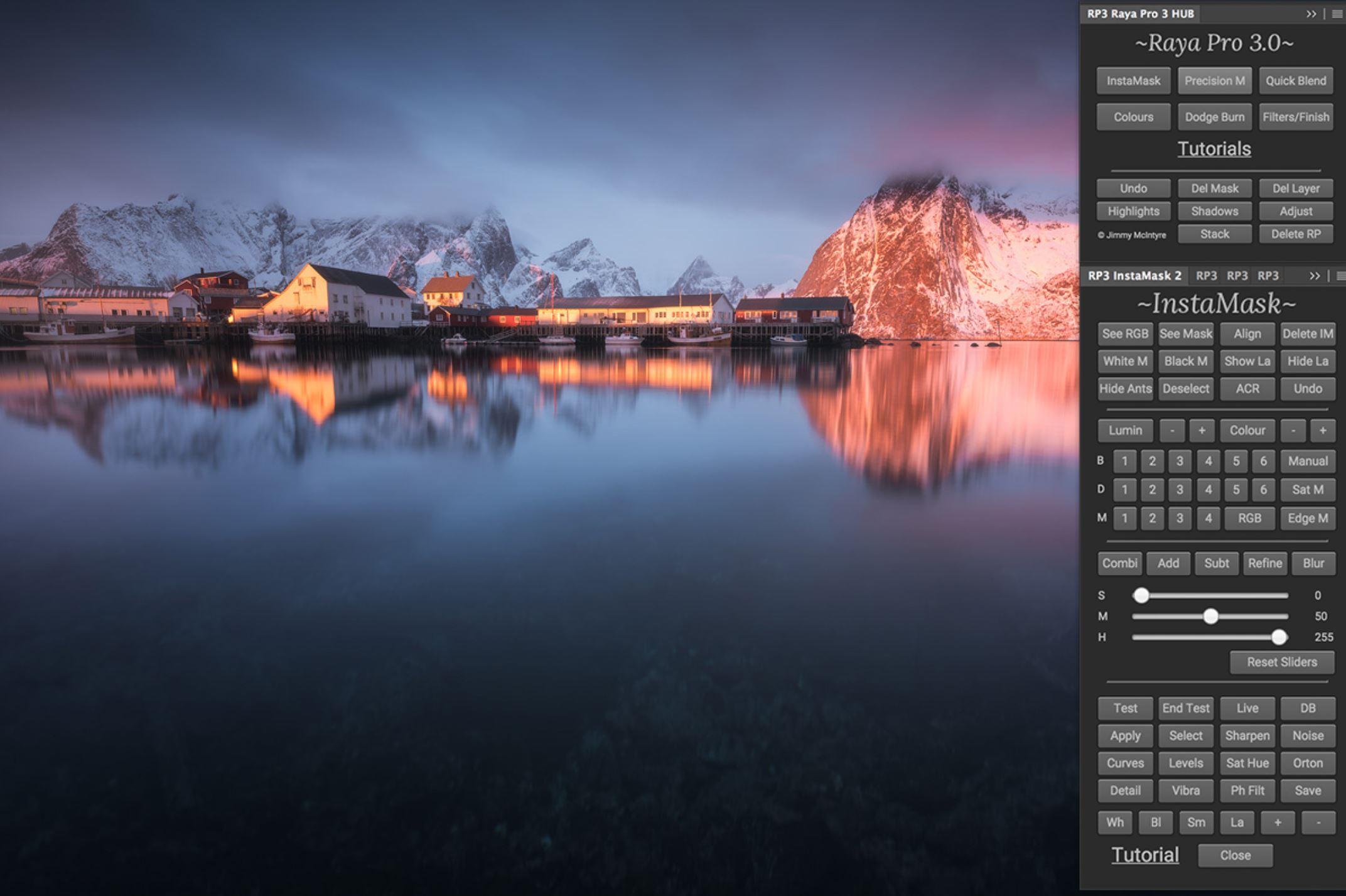 دانلود پنل فتوشاپ Raya Pro v3.0 - ترکیب و اصلاح رنگ تصاویر