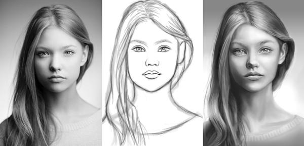نقاشی چهره با دقت بالا در فتوشاپ | نقاشی دیجیتال در فتوشاپ