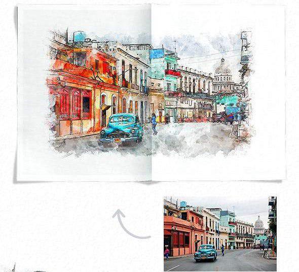 اکشن ایجاد نقاشی شهری در فتوشاپ