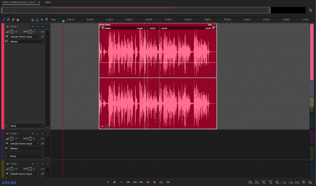 ریمیکس (remix) در ادوبی اودیشن