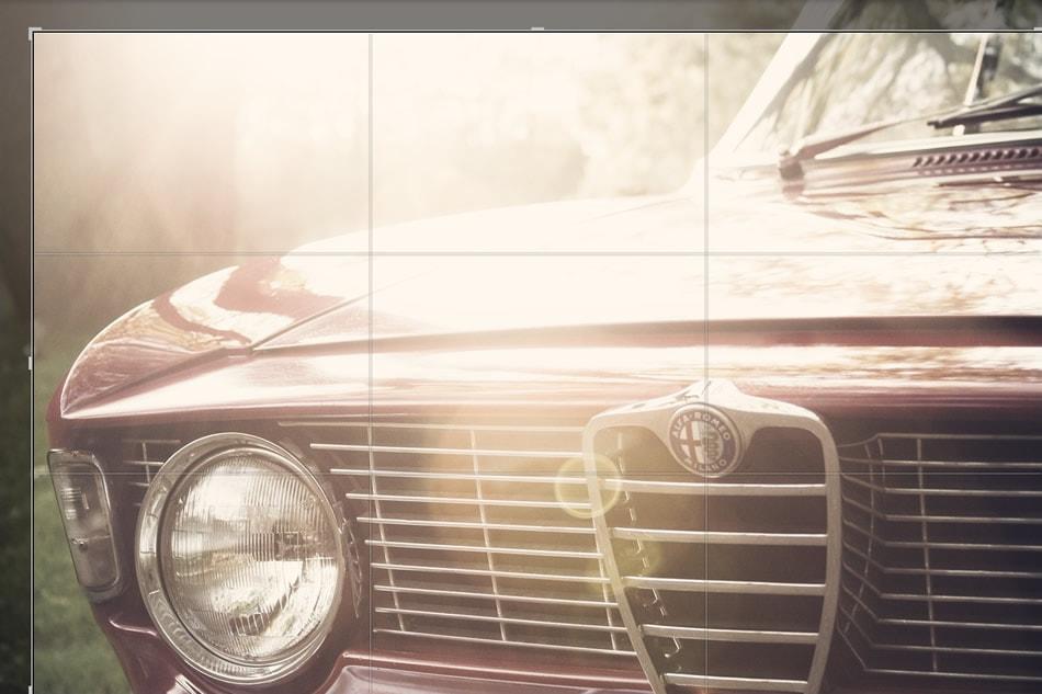 برش تصاویر در ترکیب بندی عکس