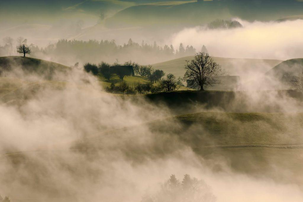 عکاسی منظره در فضای مهآلود