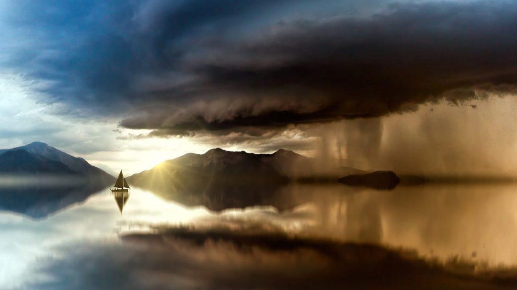 عکاسی منظره در هوای طوفانی