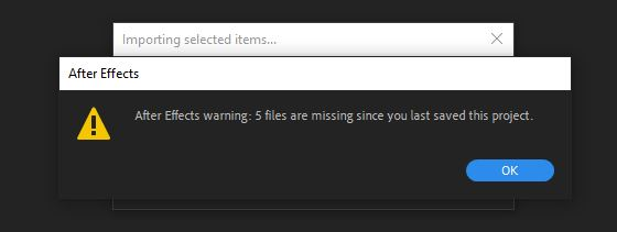 لینک کردن مجدد فایل های گمشده پروژه افترافکت