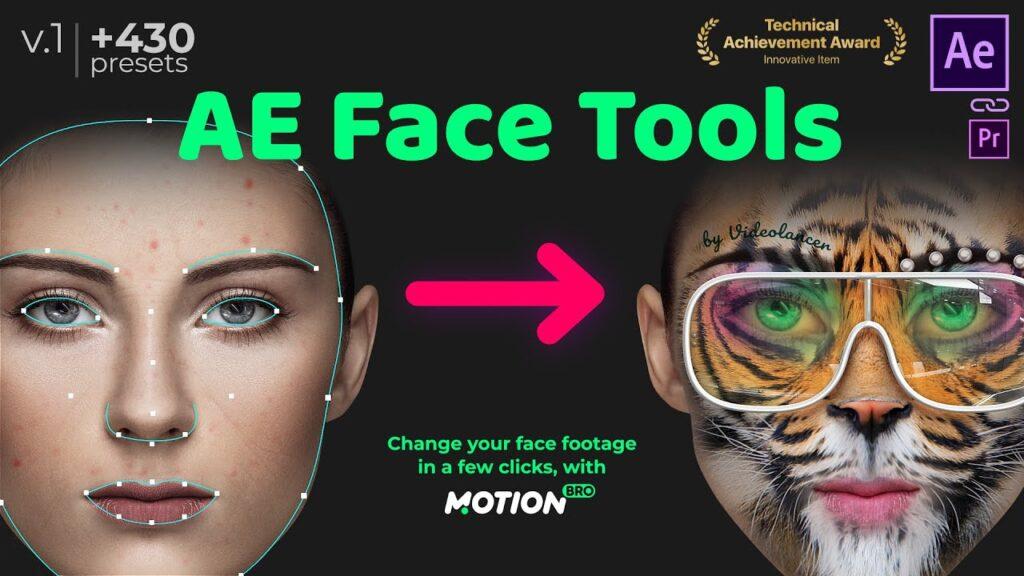پریست AE Face Tools در پکیج موشن برو