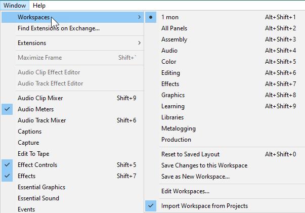 تنظیمات محیط کار برنامه های پریمیر و افترافکت برای اتصال دو مانیتور