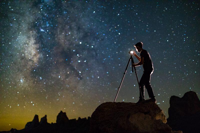 یاد بگیرید روی ستاره ها فوکوس کنید، فوکوس دستی با نمای زنده ی بزرگ نمایی شده