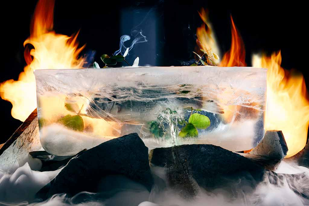 آشپزی با آتش و یخ