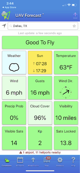 اپلیکیشن UAV Forecast