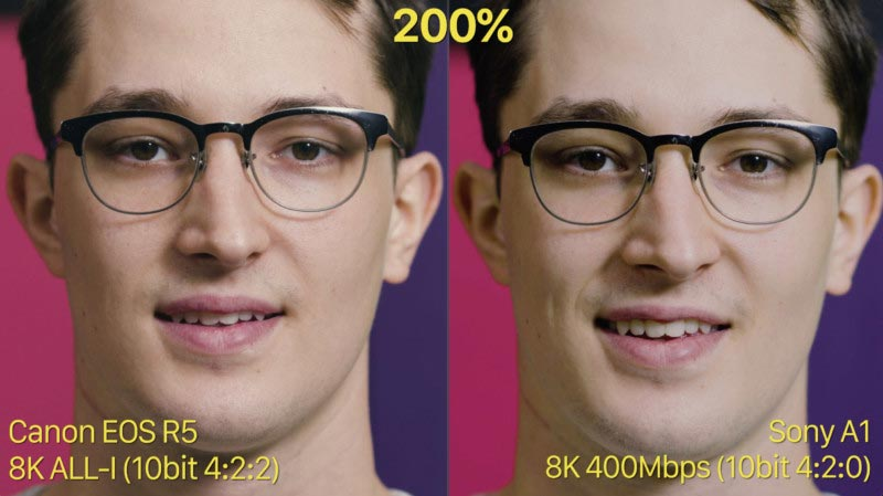 آزمایش رنگ، تناژ پوست و مقایسه نور کم در دوربین سونی Alpha 1 و کانن EOS R5