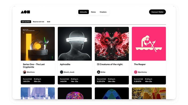 سایت Foundation برای فروش آثار هنری و عکاسی