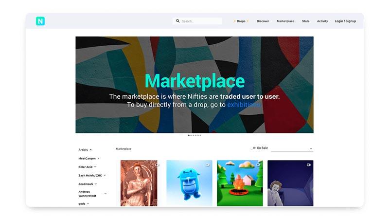 سایت Nifty Gateway برای فروش آثار هنری و عکاسی